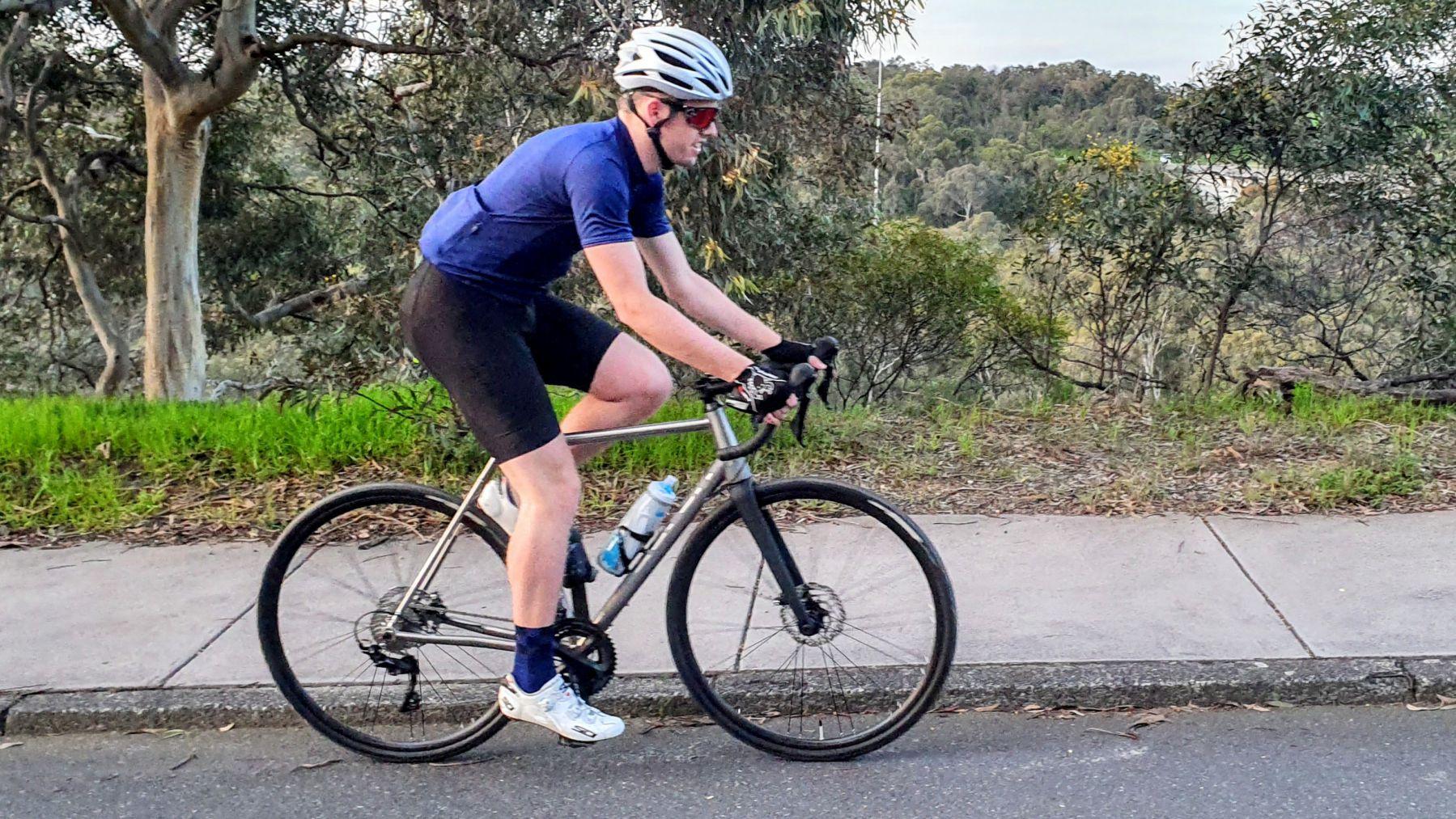 Austin Titanium Bike AUREN Side Riding